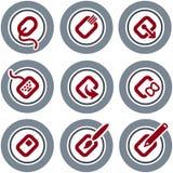 element p för design 19a Stock Illustrationer