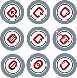 element p för design 19b Stock Illustrationer
