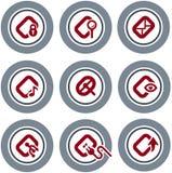 element p för design 19c Stock Illustrationer