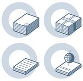 element p för design 4a Vektor Illustrationer