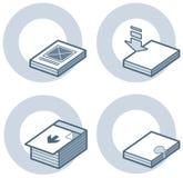 element p för design 4c Stock Illustrationer