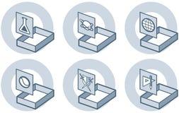 element p för design 4e Stock Illustrationer