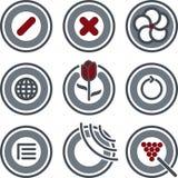 element p för design 7c stock illustrationer