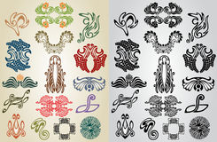 Element pattern art nouveau collection Stock Image