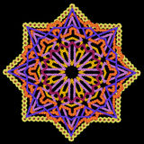Element of the Persian rug - black Star Stock Photos