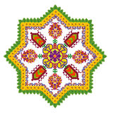 Element of the Persian rug - Octagonal Star Royalty Free Stock Image
