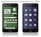 element phone smart ui Royaltyfri Foto
