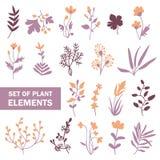 element planterar seten stock illustrationer