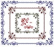 element planterar seten royaltyfri illustrationer
