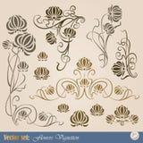 element planterar seten vektor illustrationer