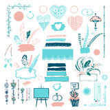 Element of poster, banner for concept invitation to holiday Royalty Free Stock Images