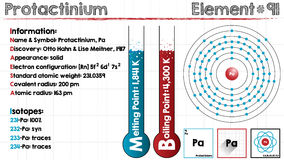 Element of Proactinium. Large and detailed infographic of the element of Proactinium Royalty Free Stock Photos