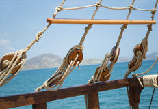 Element of sailing boat Stock Photography
