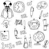 Element school doodles hand draw Stock Photography