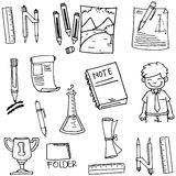 Element school education doodles Royalty Free Stock Photography