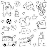 Element school for kids doodles Royalty Free Stock Photos