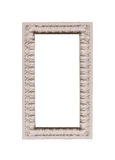 Element sculpture frame on white background Royalty Free Stock Photos