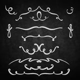 Element set of lines. Background chalk board Stock Photography
