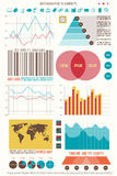 Element seven. Set of infographic elements, web technology icons.  timeline, option graph, bar code symbol. pie chart info graphic icon. financial statistic and Royalty Free Stock Photo