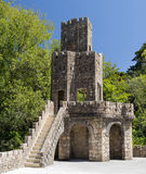 Element of SINTRA, PORTUGAL - August 17, 2012: Quinta de Regaleira palace and park complex Royalty Free Stock Images
