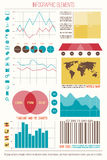 Element six. Infographic elements, internet technology icons. vector time line, option graph, bar code symbol. pie chart info graphic icon. economy statistic and Royalty Free Stock Photos