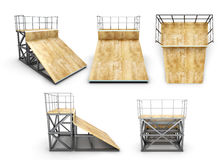 Element skate park half-ramp with different angles Royalty Free Stock Photos