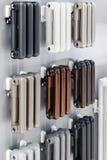 Element som värmer som är olikt i design, färg och material arkivbild