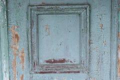 Element stary drewniany malujący drzwi Obraz Stock