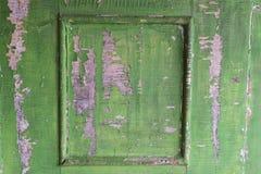 Element stary drewniany malujący drzwi Zdjęcia Royalty Free