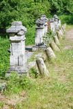 Fragment of the ancient stone bridge Royalty Free Stock Photography