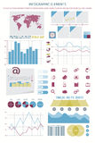 Element ten. Infographic elements, web technology icons. vector timeline option graph, clock, bar code sign. pie chart info graphic icon. financial statistic and Stock Photos