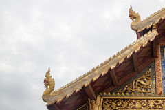 Element of thai art on roof at phra singha temple in Chiang Mai Stock Images