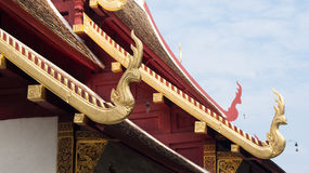 Element of Thai Art, on roof at Wat Phra Singha Temple Royalty Free Stock Photos