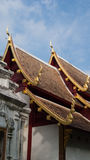 Element of Thai Art, on roof at Wat Phra Singha Temple Stock Image