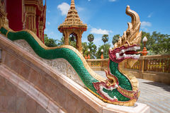 Element of Thai mythological character Golden Naga Stock Image