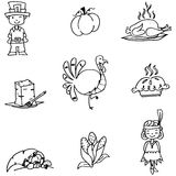Element Thanksgiving in doodle Stock Image