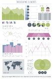 Element three. Set of infographic elements  on white background. vector timeline, option graph, bar code symbol. pie chart info graphic icons. financial Stock Photos
