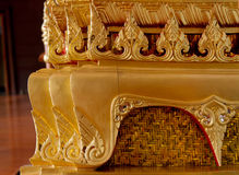 Element of Traditional Thai architecture. Made form a carved wood Royalty Free Stock Photography