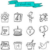 Element Valentine day of icons. Vector illustration Stock Images