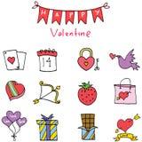 Element of valentine days vector art. Illustration Stock Image