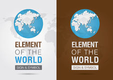 Element van de wereld Signage van het pictogramsymbool Creativ Royalty-vrije Stock Foto's