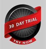 element van het 30 dagen het proefontwerp Stock Afbeeldingen