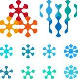 Element van het ontwerp het pentagonale, hexagonale embleem. Royalty-vrije Stock Foto