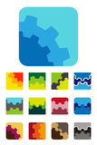 Element van het ontwerp het vierkante embleem Royalty-vrije Stock Foto