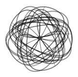 Element van het Spirograph het abstracte zwart-witte ontwerp Stock Illustratie