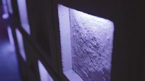 Element van muur met lichten stock footage