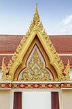 Element van Thaise Kunst in de tempel stock foto's
