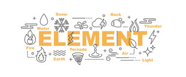 Element vector banner Royalty Free Stock Photo