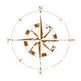 Element of a vintage compass. Vintage wind rose on white background Stock Photos