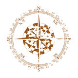 Element of a vintage compass. Vintage wind rose on white background Stock Image